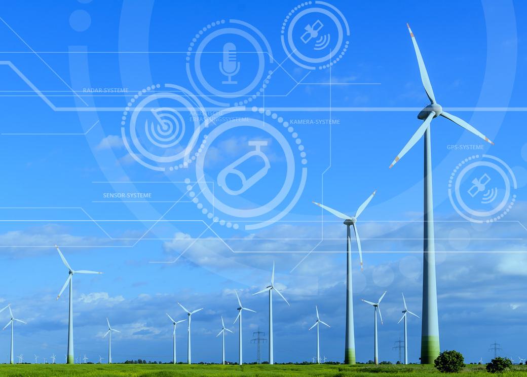 Grafik Windenergieanlagen und Antikollisionssysteme, Copyright KNE