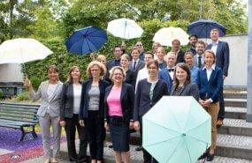 Bundesumweltministerin Svenja Schulze KNE Gruppenfoto