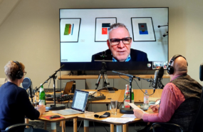 Im Studio: Aufnahme des Podcasts mit BMU-Staatssekretär Jochen Flasbarth