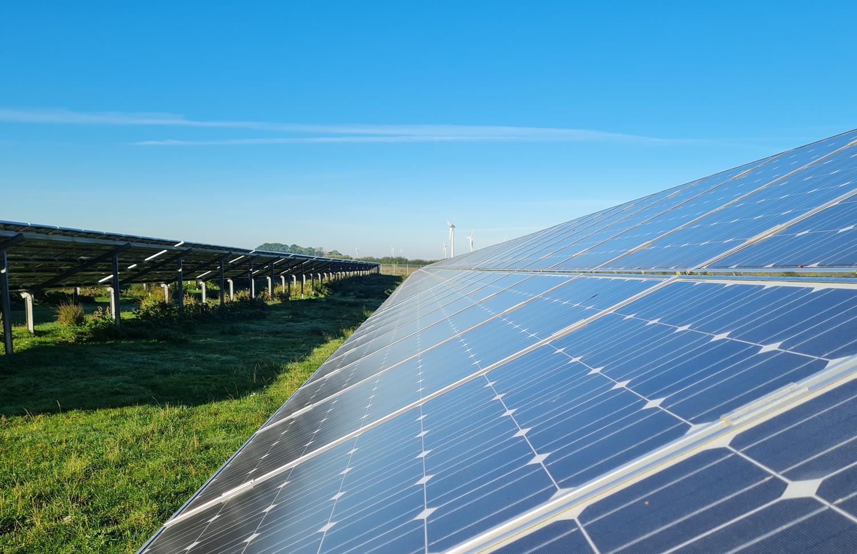 Photvoltaikanlagen auf der Freifläche, Foto: Anke Ortmann