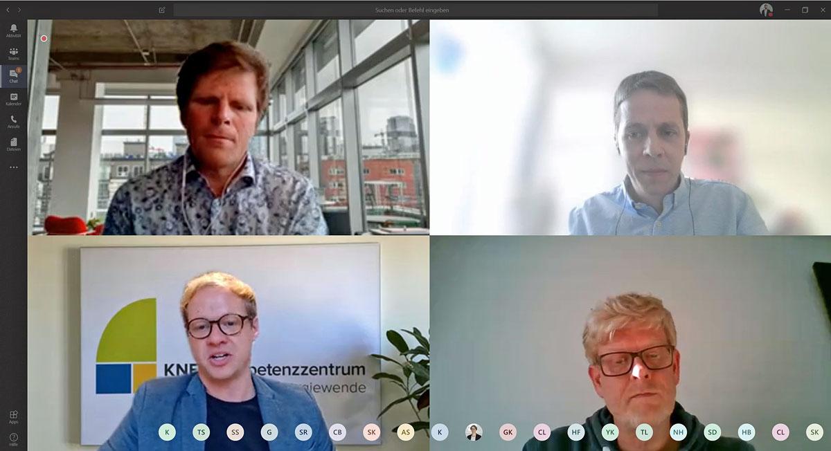 4 Personen in einer Videokonferenz