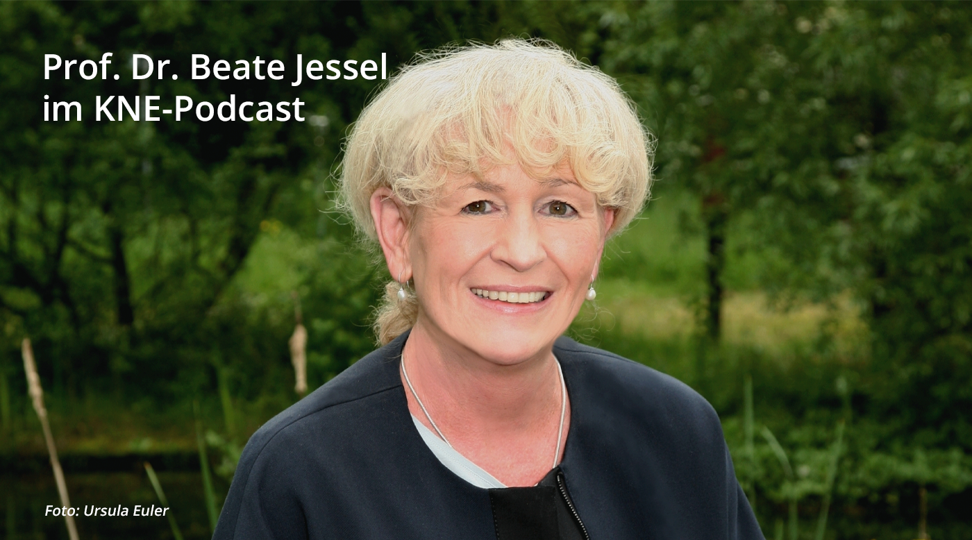 Prof. Beate-Jessel im KNE-Podcast, Foto: Ursula Euler