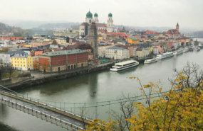 Blick auf Passau in Bayern.