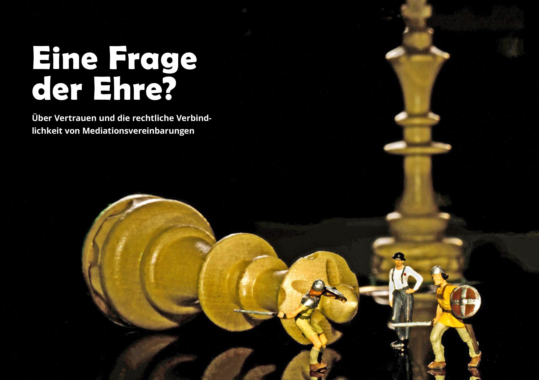 Schachfiguren und Miniaturen kämpfender Ritter