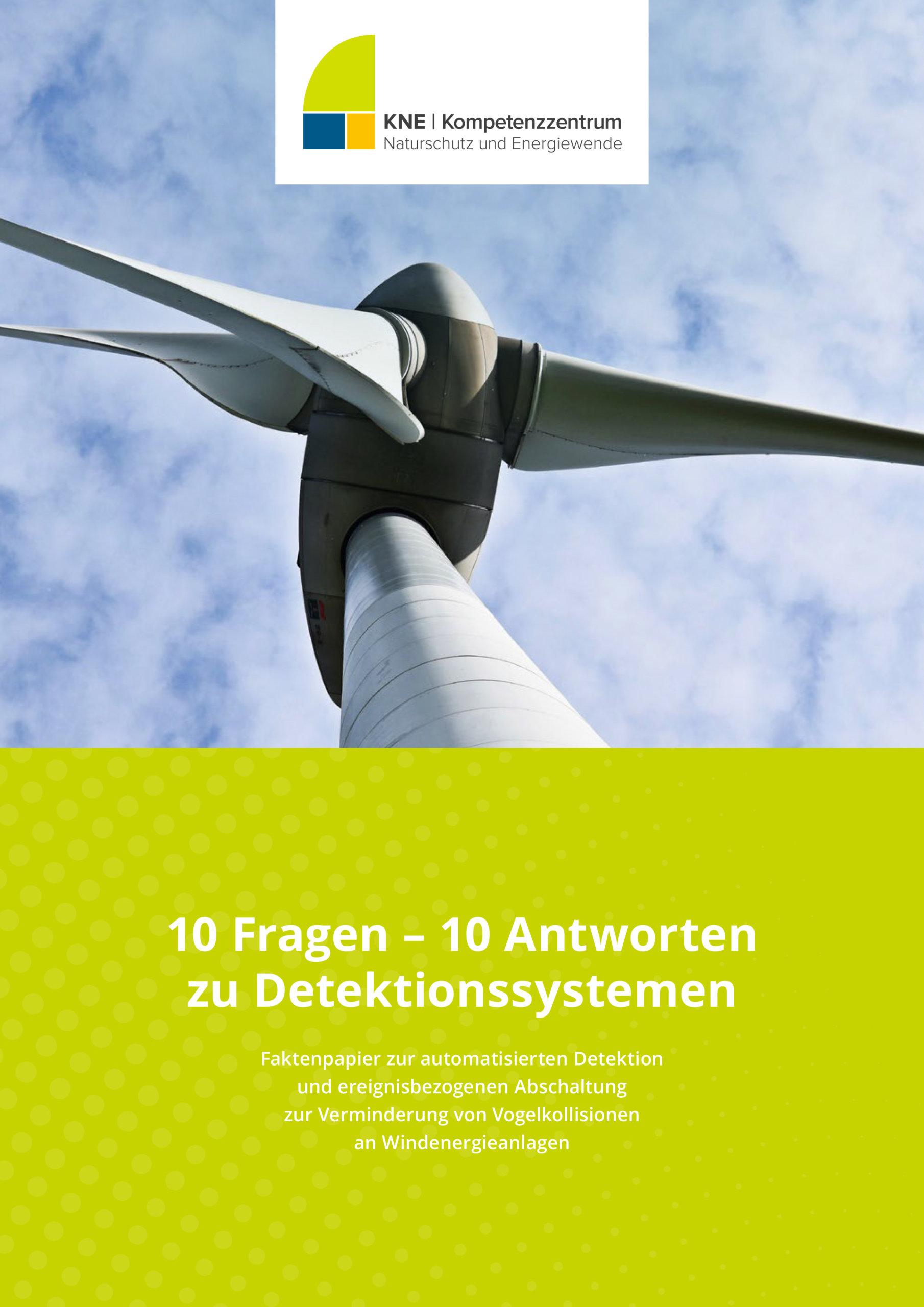 Titelbild der Publikation mit Windenergieanlage und Titel