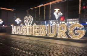 Lichtreklame in Magdeburg