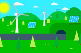 Illustration erneuerbare Energien von DavidRockDesign_Pixabay