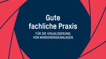Ausschnitt Titelblatt der Publikation zur Visualisierung von Windenergieanlagen