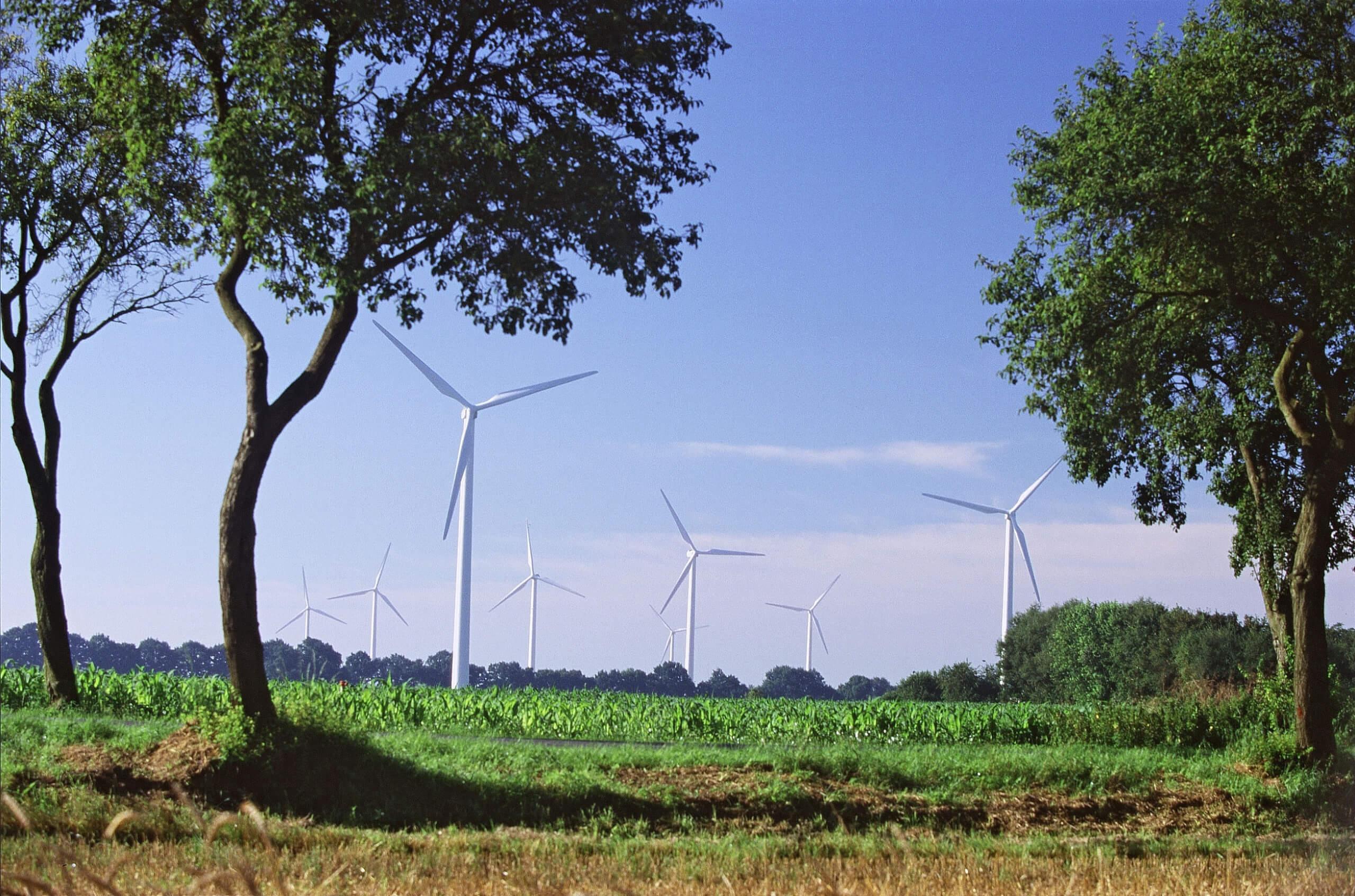WEA-Landschaft: Bildquelle, Copyright: Nordex SE; Bilderdatenbank des Bundesverband WindEnergie e. V.