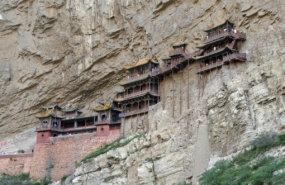 Das berühmte Hängende Kloster Xuankong Si im Norden der chinesischen Provinz Shanxi. Foto: Took auf Pixabay.